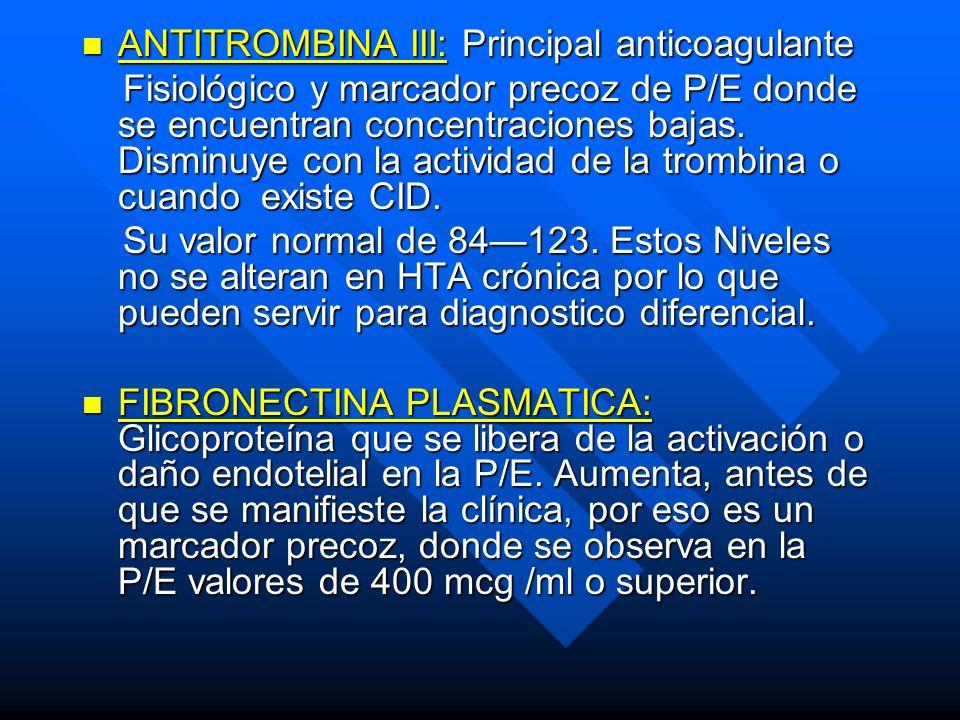 ANTITROMBINA III: Principal anticoagulante