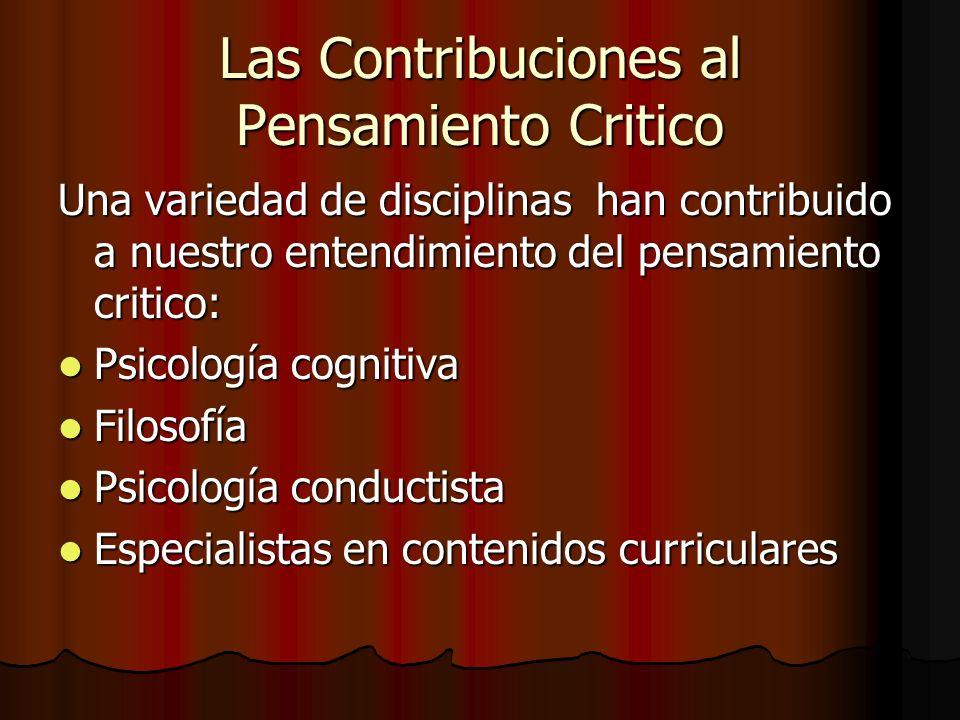 Las Contribuciones al Pensamiento Critico