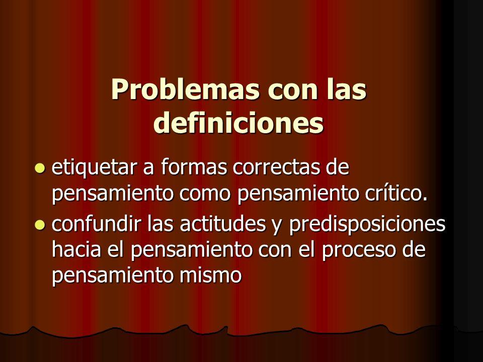 Problemas con las definiciones