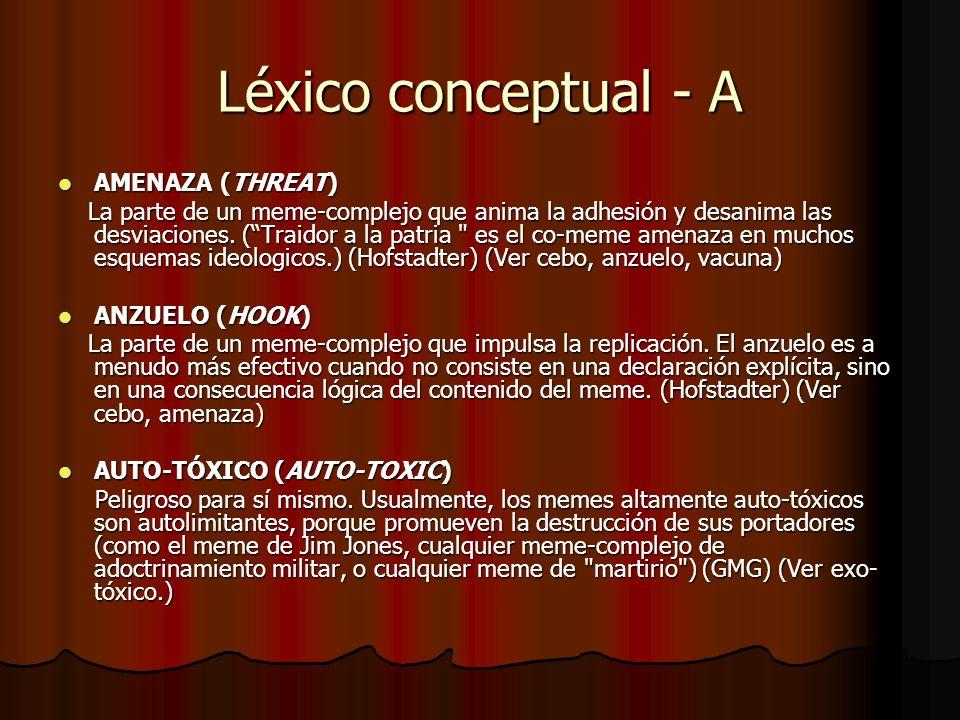Léxico conceptual - A AMENAZA (THREAT)