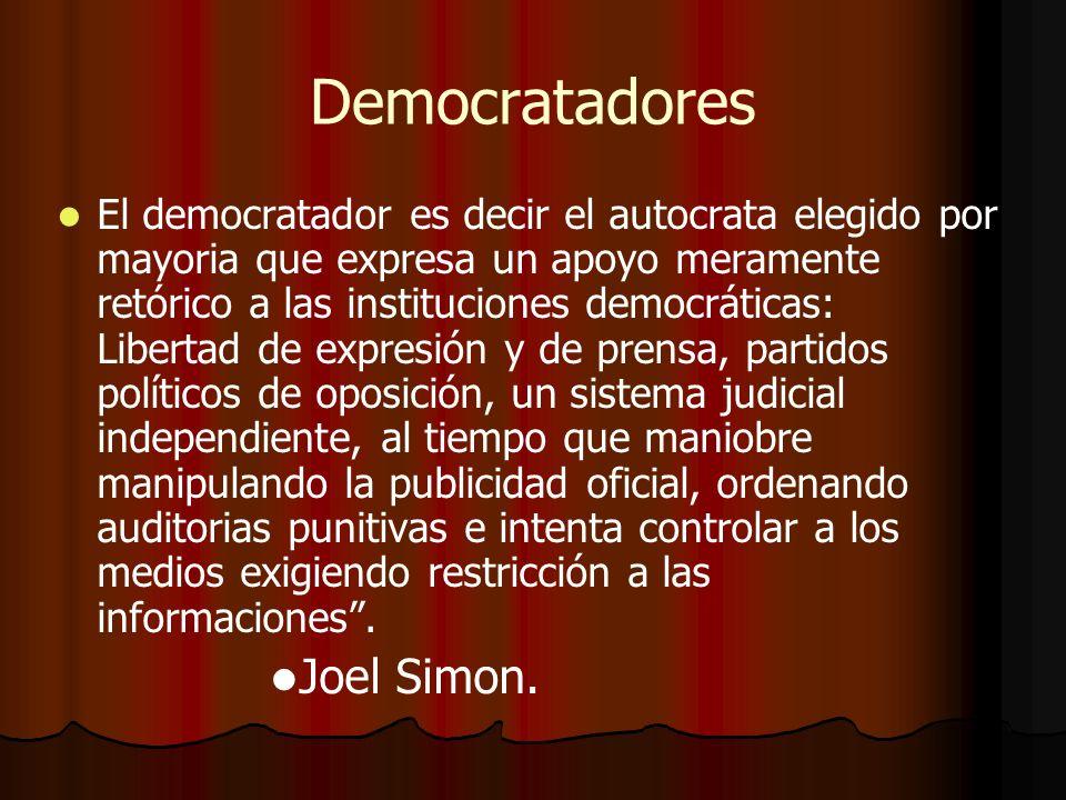 Democratadores Joel Simon.