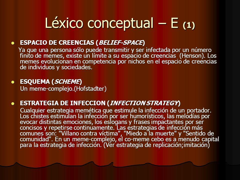 Léxico conceptual – E (1)