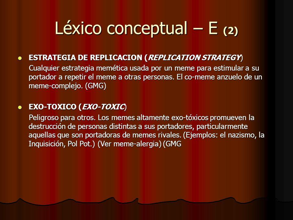 Léxico conceptual – E (2)