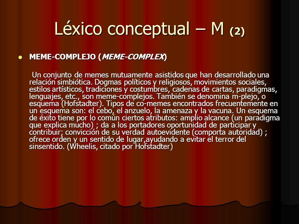 Léxico conceptual – M (2)