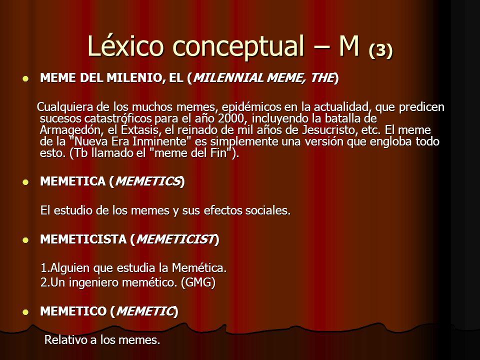 Léxico conceptual – M (3)
