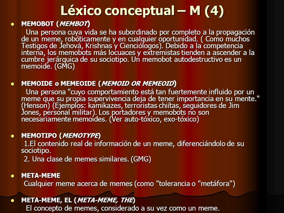 Léxico conceptual – M (4)