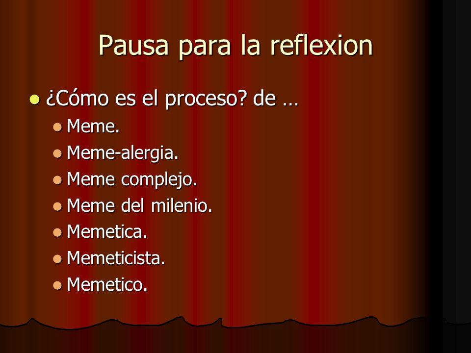 Pausa para la reflexion
