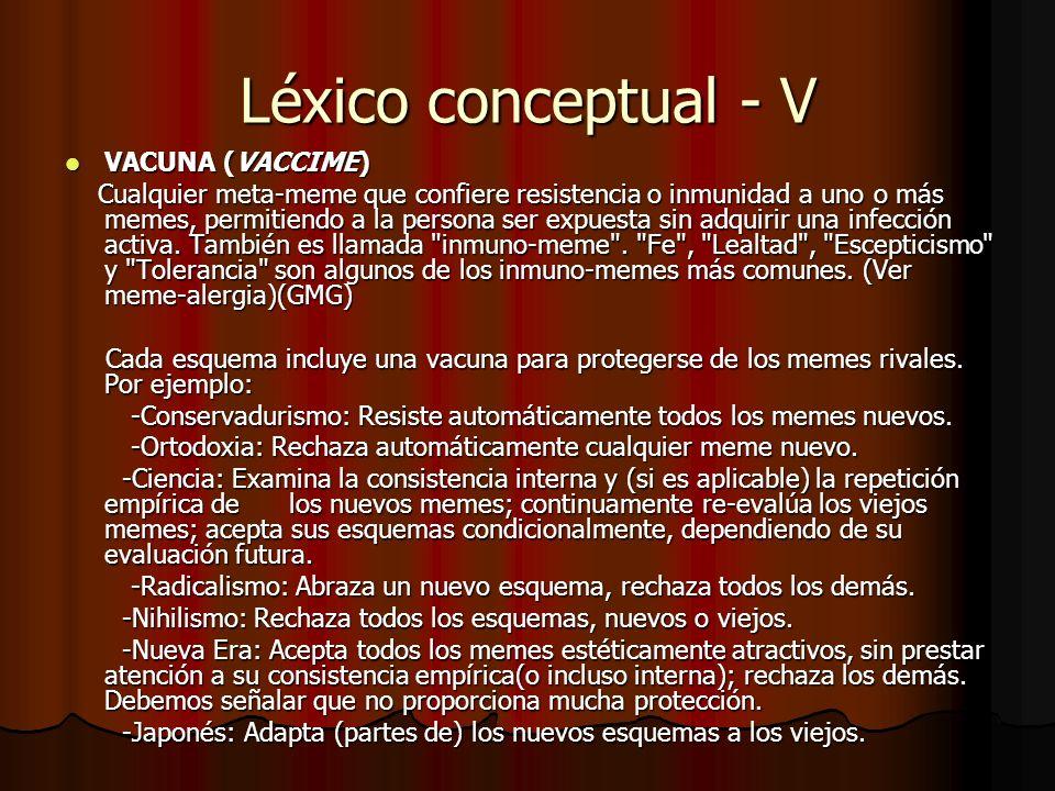 Léxico conceptual - V VACUNA (VACCIME)