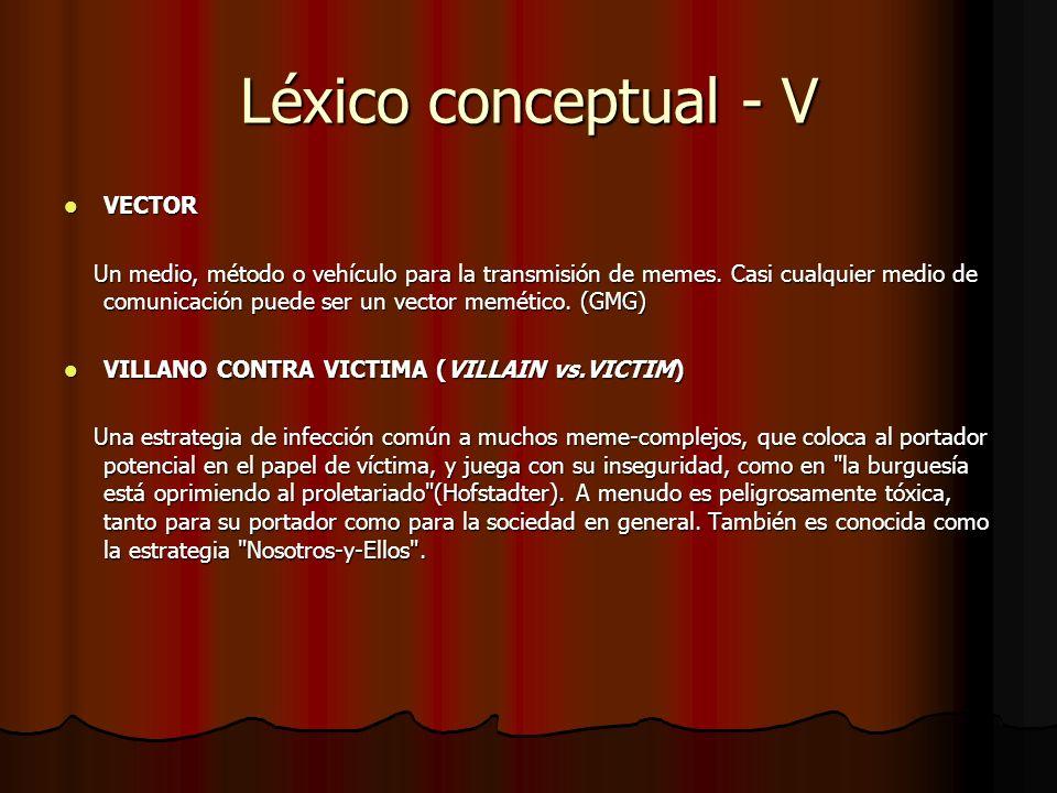 Léxico conceptual - V VECTOR