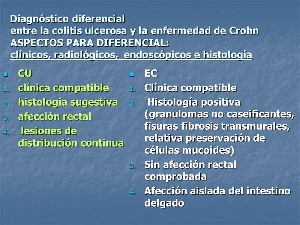 lesiones de distribución continua EC Clínica compatible
