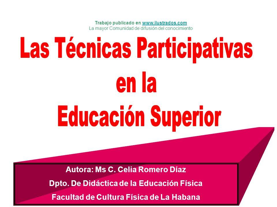 Las Técnicas Participativas en la Educación Superior