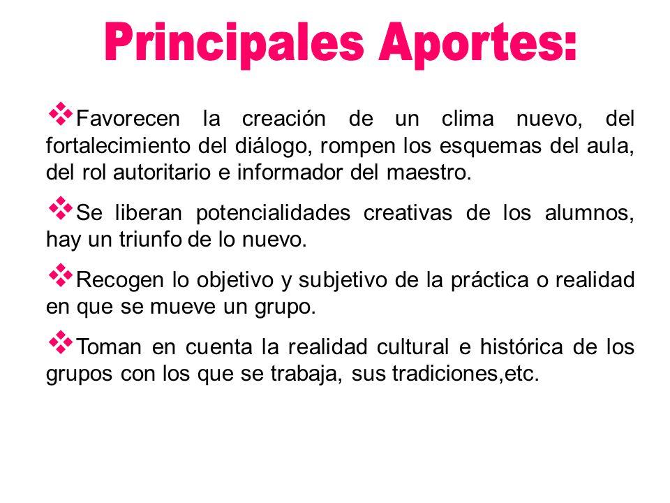 Principales Aportes: