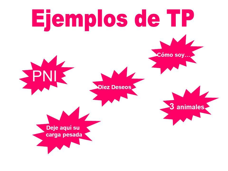 PNI Ejemplos de TP 3 animales Cómo soy… Diez Deseos Deje aquí su