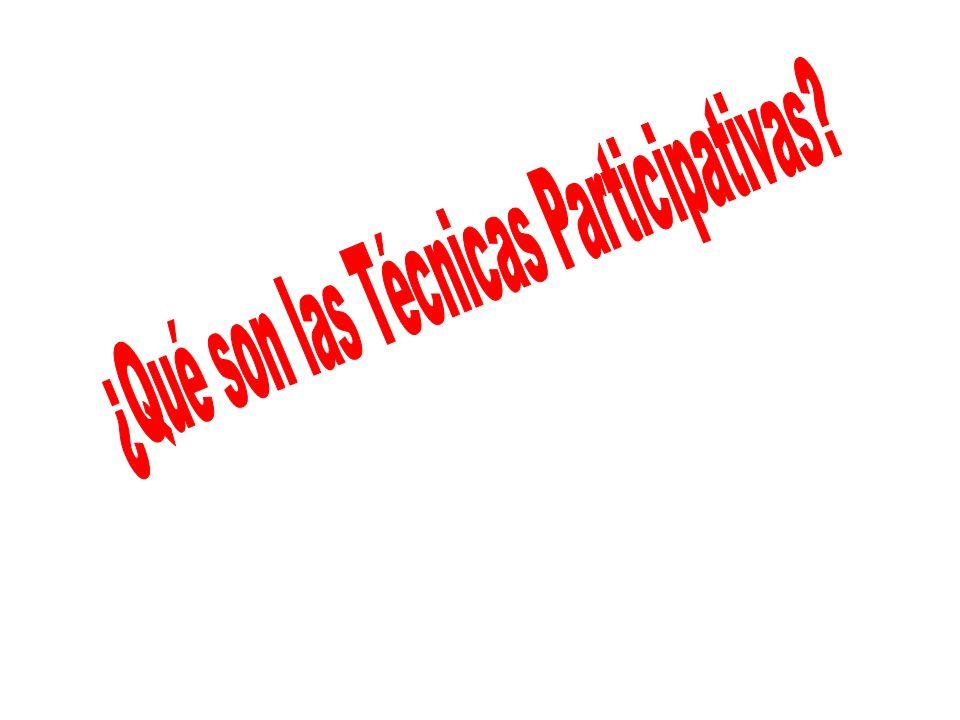 ¿Qué son las Técnicas Participativas