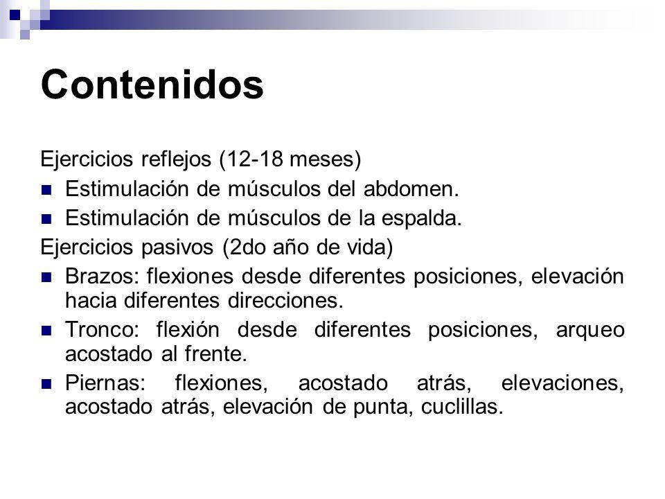 Contenidos Ejercicios reflejos (12-18 meses)