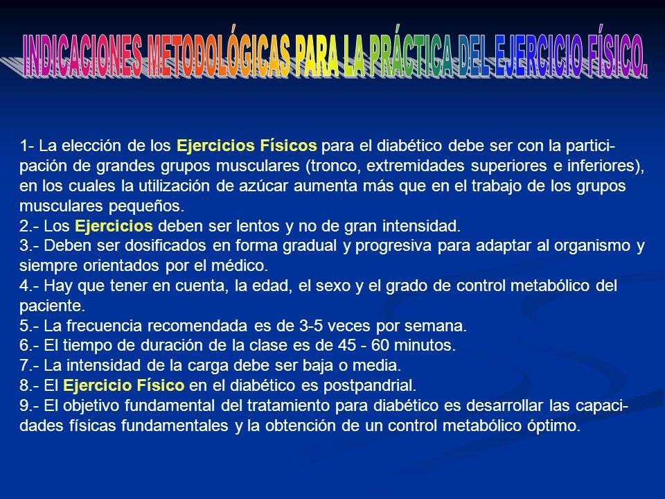 INDICACIONES METODOLÓGICAS PARA LA PRÁCTICA DEL EJERCICIO FÍSICO.