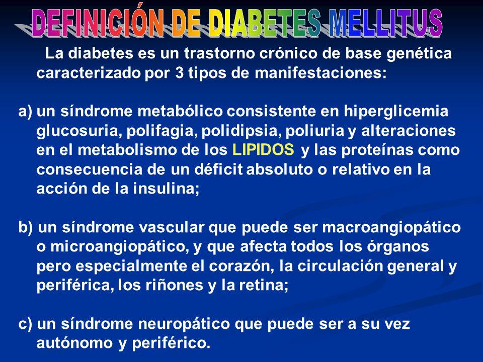 DEFINICIÓN DE DIABETES MELLITUS
