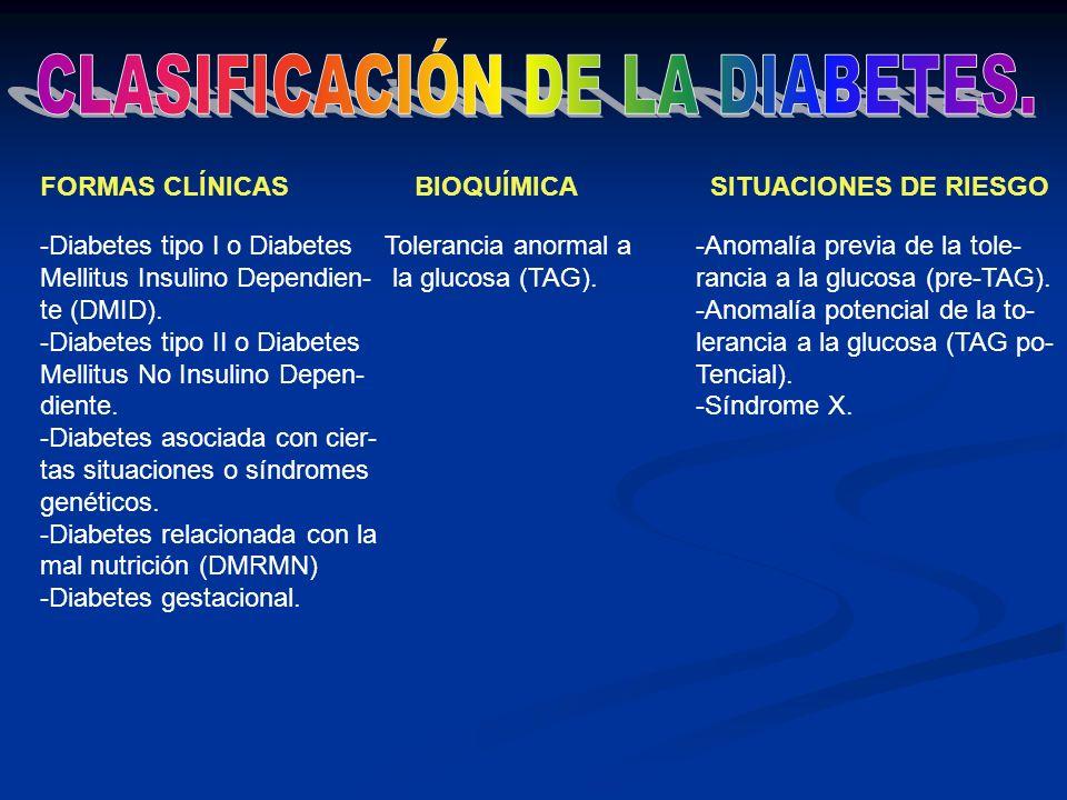 CLASIFICACIÓN DE LA DIABETES.