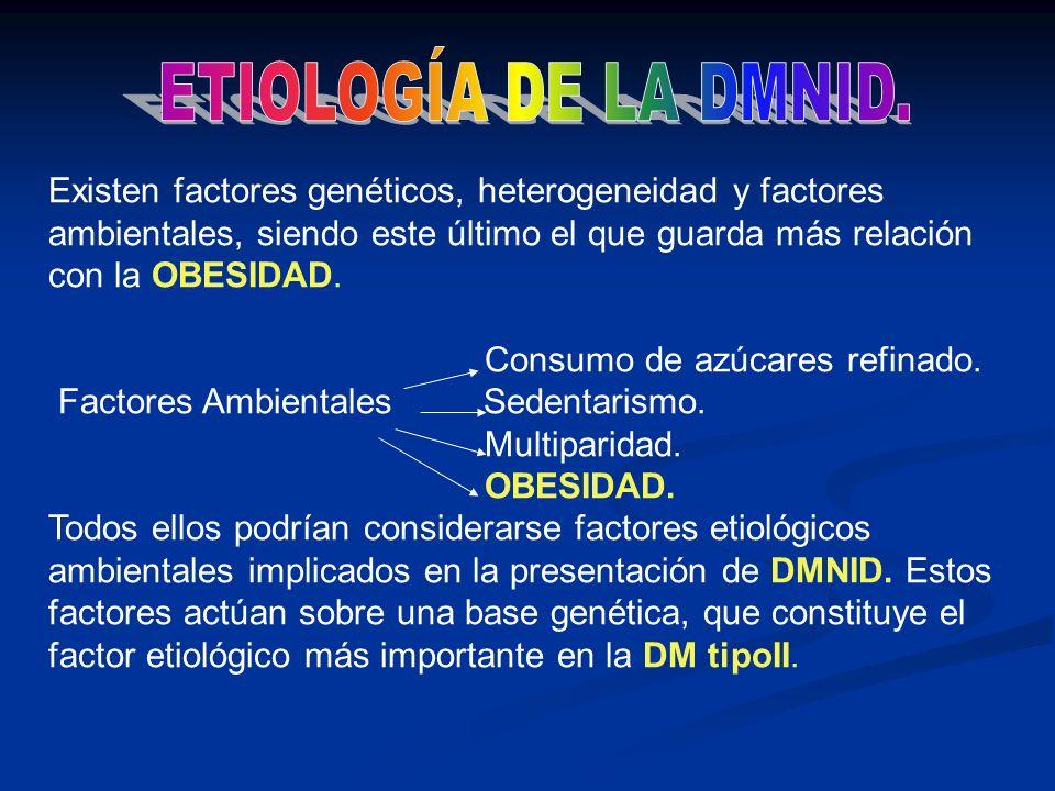 ETIOLOGÍA DE LA DMNID.