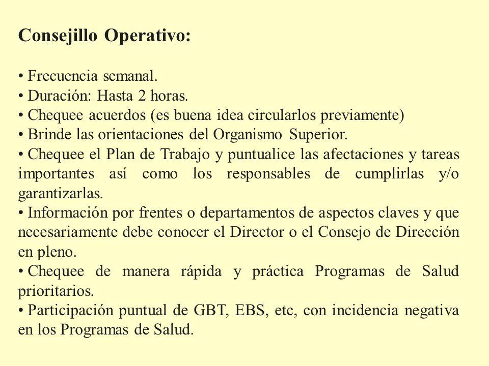 Consejillo Operativo: