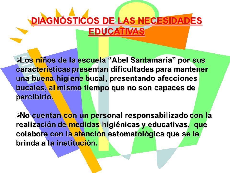 DIAGNÓSTICOS DE LAS NECESIDADES EDUCATIVAS
