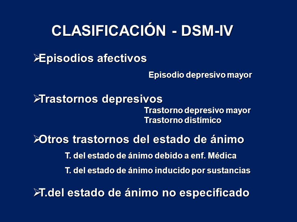 CLASIFICACIÓN - DSM-IV