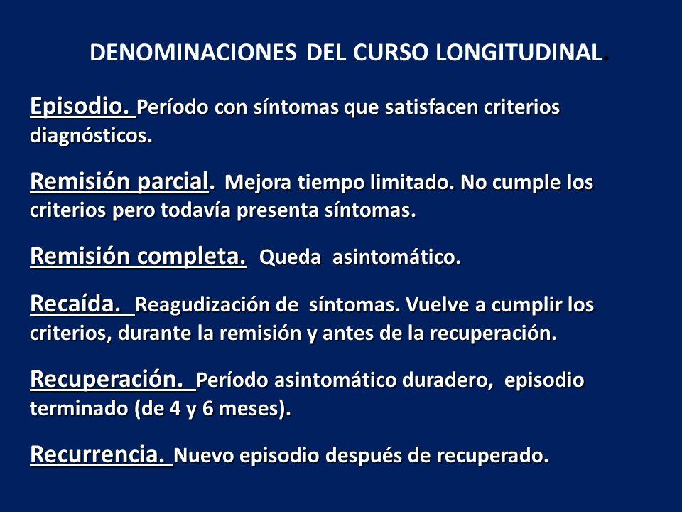 DENOMINACIONES DEL CURSO LONGITUDINAL.