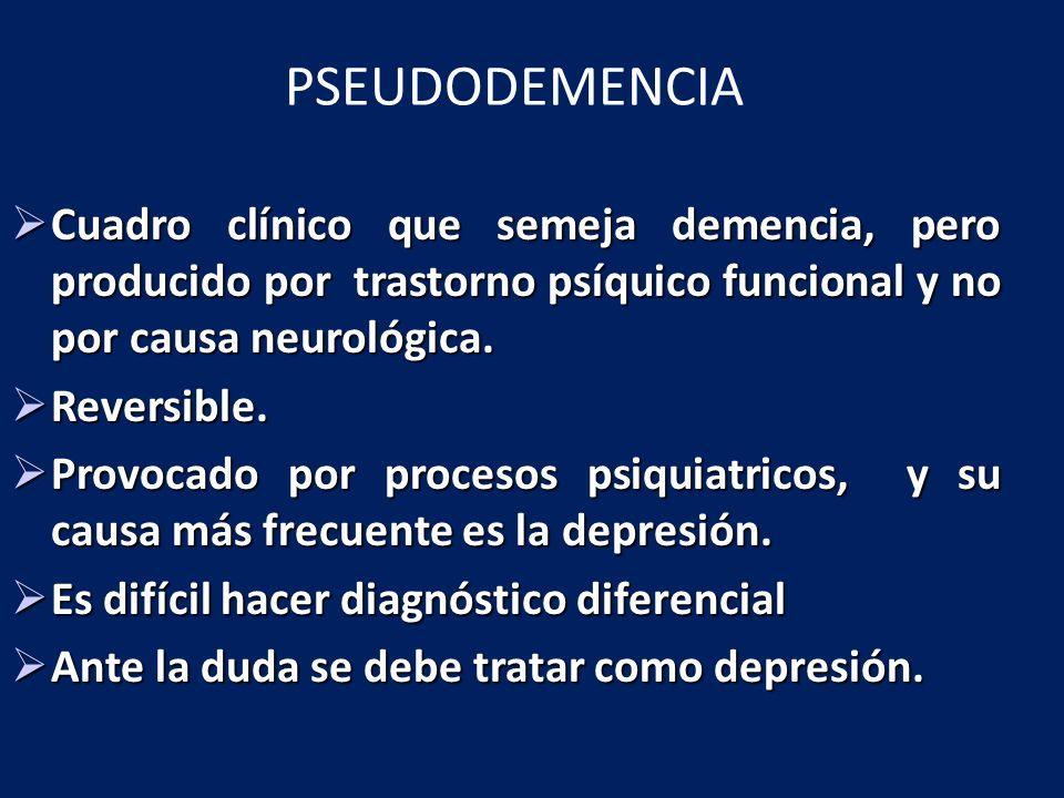 Es un síndrome, no un diagnóstico.