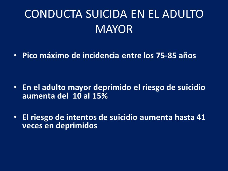 CONDUCTA SUICIDA EN EL ADULTO MAYOR