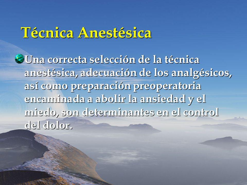Técnica Anestésica