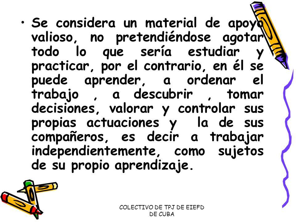 COLECTIVO DE TPJ DE EIEFD DE CUBA