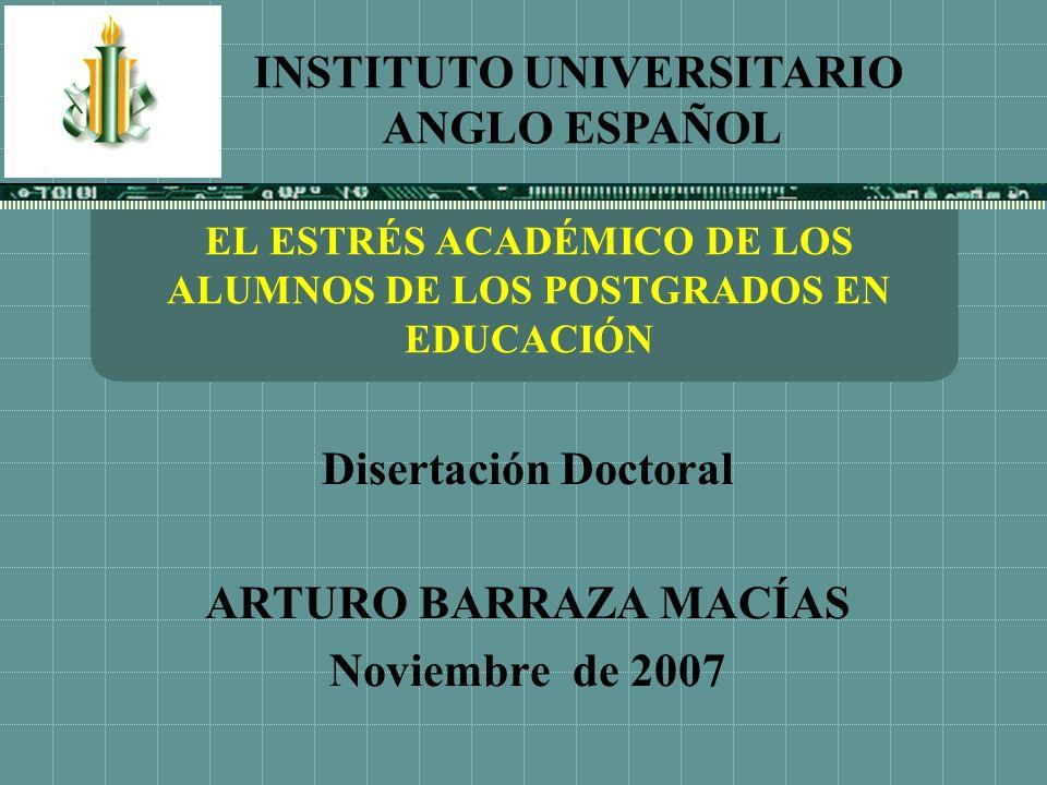 EL ESTRÉS ACADÉMICO DE LOS ALUMNOS DE LOS POSTGRADOS EN EDUCACIÓN