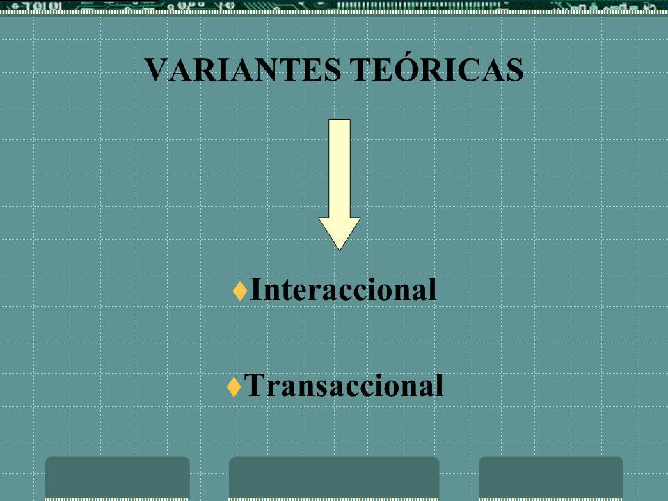 VARIANTES TEÓRICAS Interaccional Transaccional