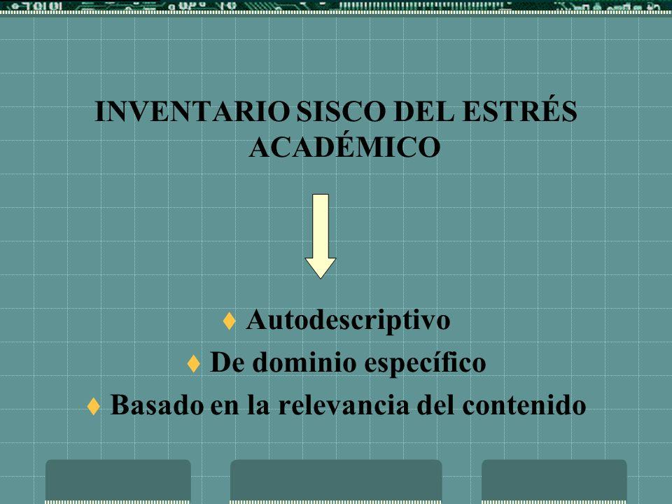 INVENTARIO SISCO DEL ESTRÉS ACADÉMICO