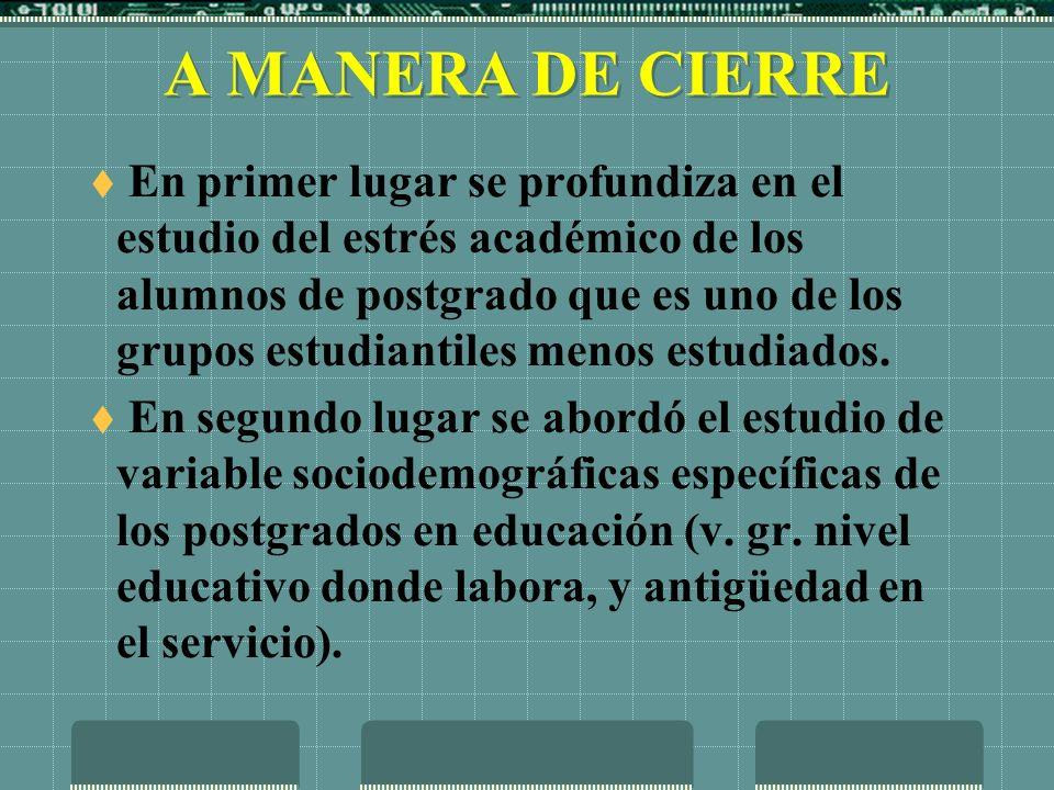 A MANERA DE CIERRE