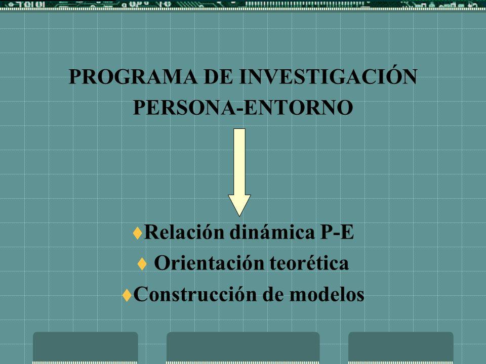PROGRAMA DE INVESTIGACIÓN PERSONA-ENTORNO