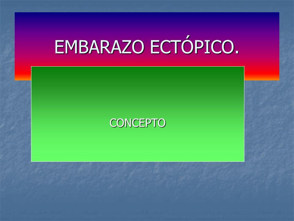 EMBARAZO ECTÓPICO. CONCEPTO Concepto.