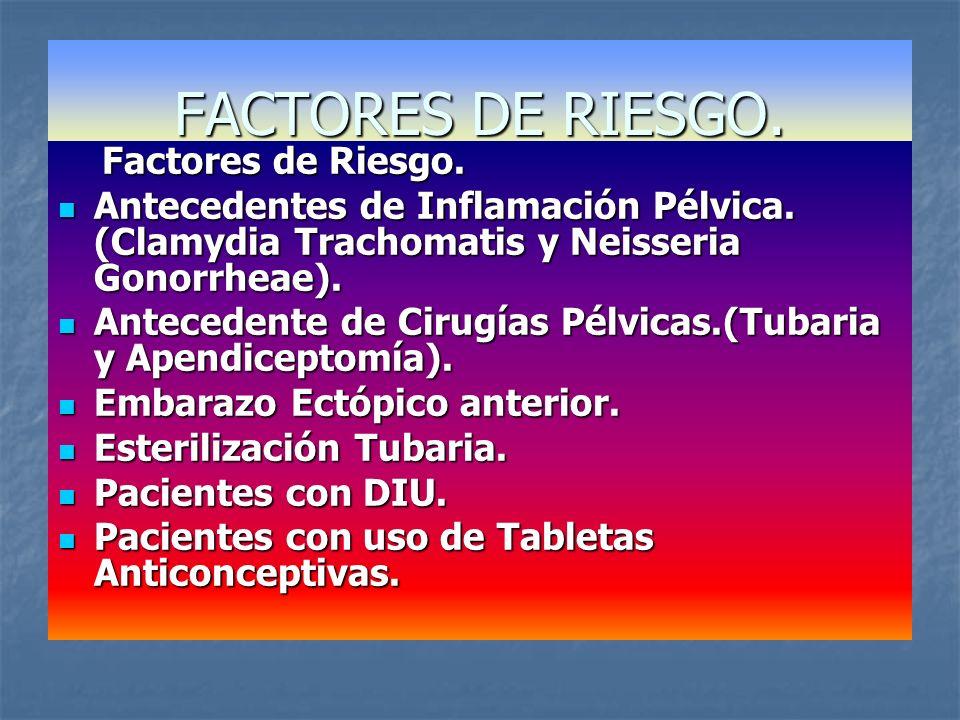 FACTORES DE RIESGO. Factores de Riesgo.