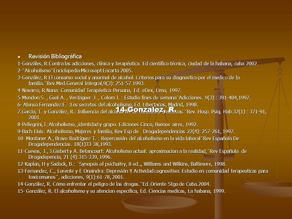 14-Gonzalez, R. Revisión Bibliográfica