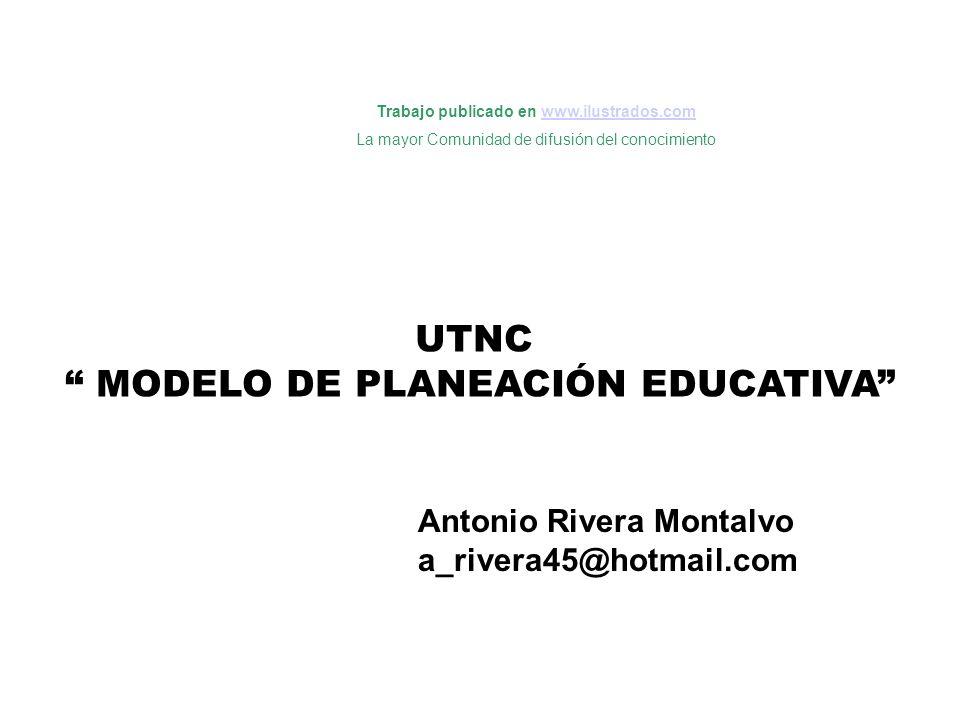 UTNC MODELO DE PLANEACIÓN EDUCATIVA