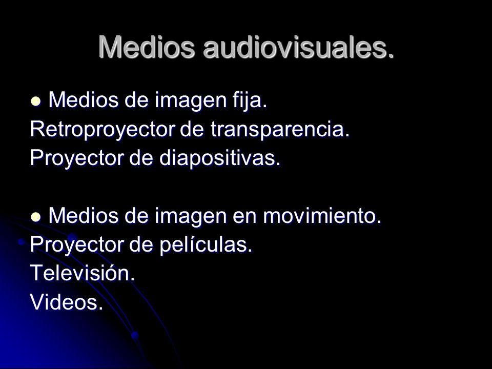 Medios audiovisuales. Medios de imagen fija.