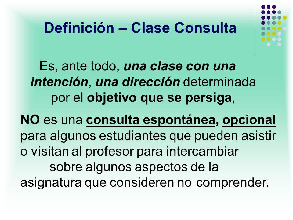 Definición – Clase Consulta