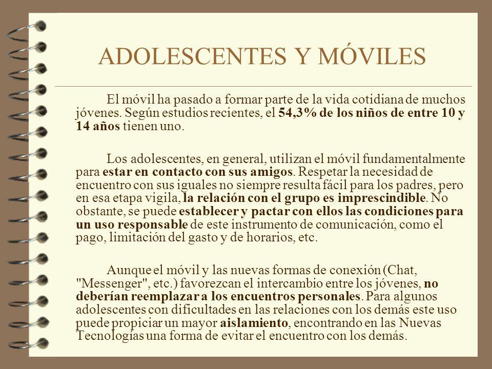 ADOLESCENTES Y MÓVILES