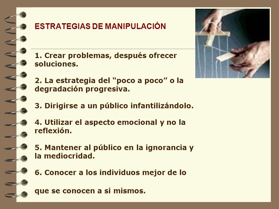 ESTRATEGIAS DE MANIPULACIÓN 1