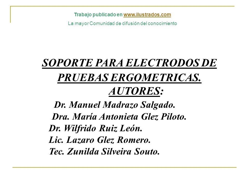 Trabajo publicado en www.ilustrados.com SOPORTE PARA ELECTRODOS DE