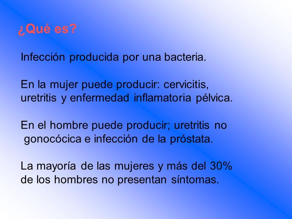 ¿Qué es Infección producida por una bacteria.