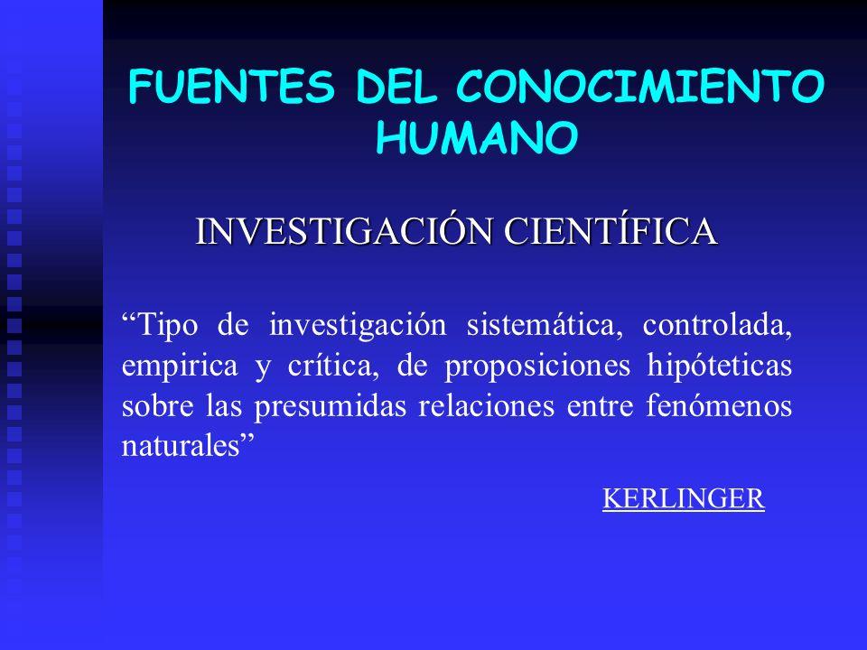 FUENTES DEL CONOCIMIENTO HUMANO