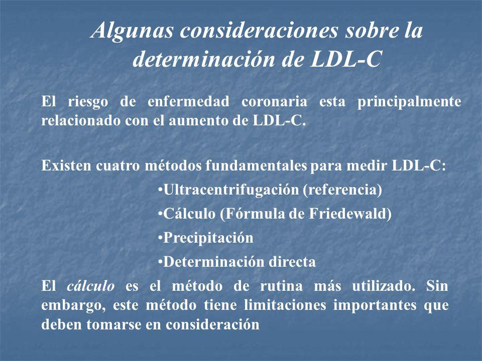 Algunas consideraciones sobre la determinación de LDL-C