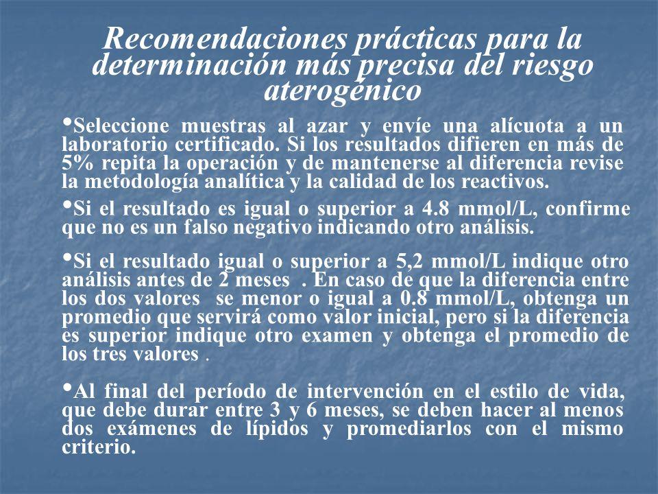 Recomendaciones prácticas para la determinación más precisa del riesgo aterogénico