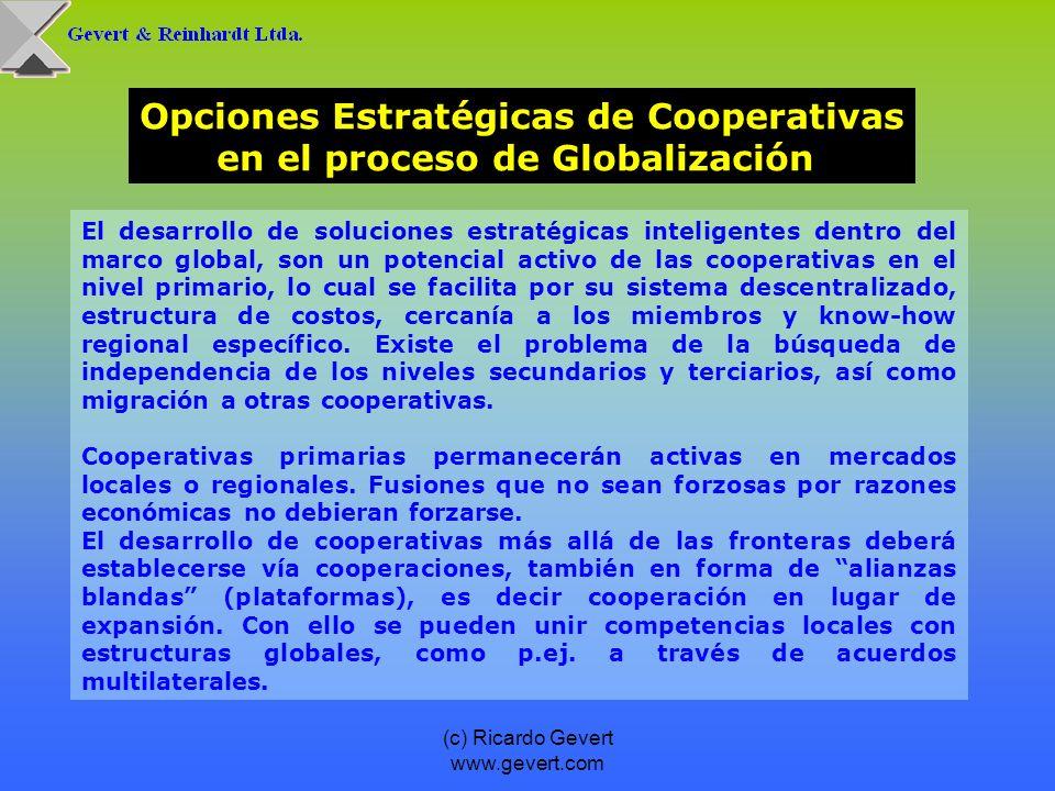 Opciones Estratégicas de Cooperativas en el proceso de Globalización